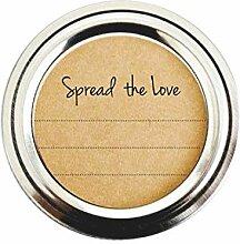 Spread The Love Mason Jar Etiketten, Aufkleber