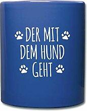Spreadshirt Der Mit Dem Hund Geht Gassi Hunde