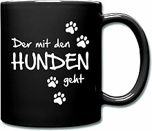 Spreadshirt Der Mit Den Hunden Geht Hunde Spruch