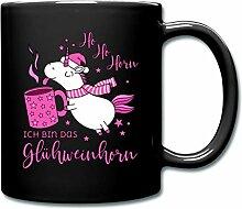 Spreadshirt Einhorn mit Glühwein Glühweinhorn