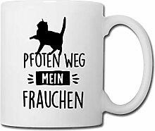 Spreadshirt Katze mit Spruch Pfoten Weg Mein