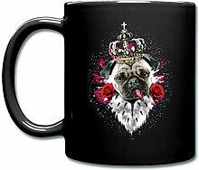 Spreadshirt Königlicher Mops Mit Rosen Und Krone