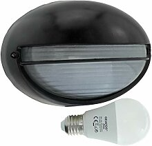 Spree-LED 10W - E27 - Aluminium -Alu wandstrahler