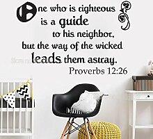 Sprichwörter 12:26 Schrift Wandkunst Kalligraphie