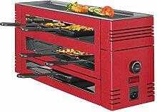 Spring Pizza-Raclette-Grill rot für 6 Personen