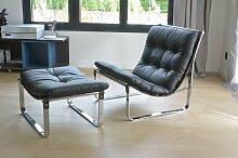 Spring Sessel & Fußhocker von Ingmar Relling für