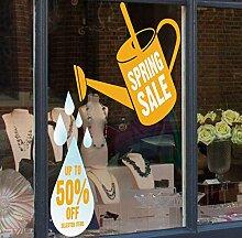 Spring Verkauf Gießkanne Verkauf Discount Shop Fenster selbst Aufkleber–Seasonal Fenster Aufkleber, für Weihnachten, Gelb, Large Up to 50% Off