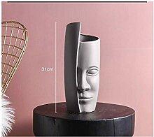 SPRINGHUA. Gesichts-Kunst Vase Dekoration Zuhause
