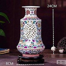 SPRINGHUA. Keramik Dekoration Kreative Hohl Blau