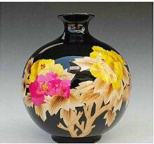 SPRINGHUA. Keramik-Pfingstrosen-Blüte Mit Weizen