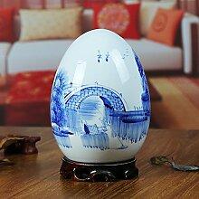 SPRINGHUA. Keramik Vase blau und weiß