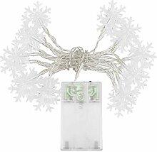 SpringPear® 3 Meter Warmweiß Schneeflocke