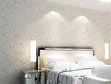 Sprinkle Pearl Silber Nest Schlafzimmer Wohnzimmer Stereo Moderne minimalistische Vliesfasertapete Abstrakt 3D TV Hintergrund Tapete 8122