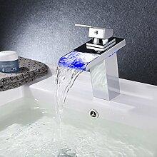 Sprinkle Wasserfall-Wasserhahn, Einhandgriff, LED,