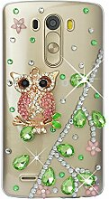 Spritech(TM) Hohe Qualität Strass Schutzhülle LG G Stylo / LG Stylus (LS770) Case Cover Bunte PC Material Muster Stylisches Designer Case echten Kristallen Handy Tasche Etui
