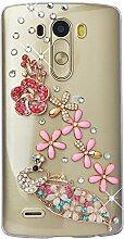 Spritech(TM) Hohe Qualität Strass Schutzhülle LG G Stylo/LG Stylus (LS770) Case Cover Bunte PC Material Muster Stylisches Designer Case echten Kristallen Handy Tasche Etui