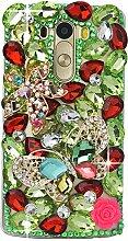 Spritech(TM) Hohe Qualität Strass Schutzhülle LG Leon/LG Tribute 2/C40 Hülle Case Cover Bunte PC Material Muster Stylisches Designer Case echten Kristallen Handy Tasche Etui