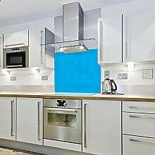 Spritzschutz aus Glas mit Farbblock, 600 x 800 cm