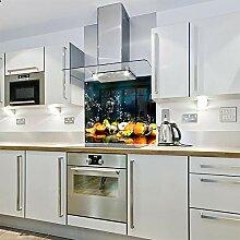 Spritzschutz für die Küche, aus Glas, bedruckt,