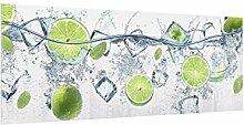 Spritzschutz Glas - Erfrischende Limette 40 x