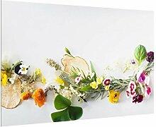 Spritzschutz Glas für Küche & Herd 59 cm x 90 cm
