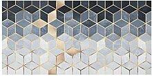 Spritzschutz Glas Küchenrückwand - Blau Weiß
