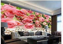 sproud 3D-individuelle Tapete Pearl Rose Blume klassische Tapeten für Wände Foto Wandbilder Tapeten Home Decoration 250 cmX 175 cm