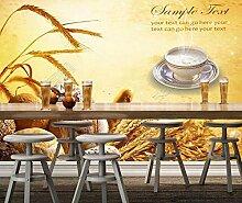 Sproud Bäckerei Tapete Brot 3D-Modernes Wandbild Für Restaurant Cafe Hintergrund Wallpaper Home Decor Papel De Parede 250 Cmx 175 Cm