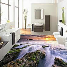 Sproud Bodenbeläge Fluss Wasser gepflasterten Boden Malerei Textur dreidimensionale Hintergrund Malerei Dick 300cmx210cm Verschleiß
