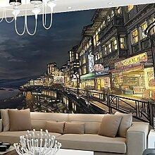 Sproud City Night Skizze Tv Hintergrund Tapete Kinderzimmer Esszimmer Wandbild Tuch 250 Cmx 175 Cm