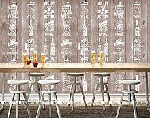 Sproud Custom Vintage Tapete Holz Handbemalt Bier Flaschen Für Das Wohnzimmer Schlafzimmer Hintergrund Wand Wasserdicht Wallpaper 200 Cmx 140 Cm