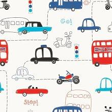 Sproud Das Auto Kinderzimmer Schlafzimmer Tapete für Wände Roll Umweltschutz Seidentuch Hintergrund Dekor Tapete Kinder 350 cmX 245 cm