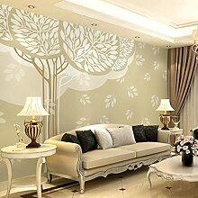 Sproud Großes Wandbild 3D Wallpaper Modernen Stil Beige Bäume Individuelle Tapete Für Wände Stereo-Tv-Hintergrund Wohnzimmer 250 Cmx 175 Cm