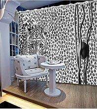 Sproud Hochwertige Qualität Verdunkelungsvorhänge lebensechte Wild Leopard Schlafzimmer Wohnzimmer Sonnenschutz Fenster Vorhang 260 Dropx 200 Breite (cm) 2 Stück