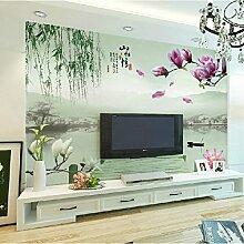 Sproud Hohe Qualität Große 3D-Chinesischen Klassischen Und Modischen Stil Wandbild Tapete Mit Blumen Im Schlafzimmer Tv Hintergrund Wohnzimmer 300 Cmx 210 Cm.