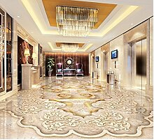 sproud Home Decoration Seidentuch Wasserdichter Boden Custom Photo Selbstklebende 3D, 3D-Boden Wallpaper Marmor Parkettboden 3D 300cmx210cm