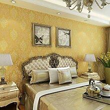 Sproud Seidentuch Tapete Damast europäischen Vintage Tapeten Wandbespannung Papier für Wohnzimmer Hintergrund strukturierte Home Tapete 3D 250 cmX 175 cm