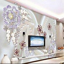 Sproud Wallpaper großes Wandbild Perlen Diamant Mosaik Blumen Dielianhua Tv Wand Hintergrund Tapete Tapete für Wände 3D 200 cmX 140 cm