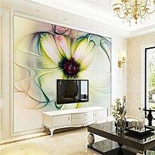 Sproud Wallpaper Moderne Kunst abstrakter floraler Tapete Schlafzimmer Wohnzimmer Schlafsofa Schöne Blumen Hintergrund Wallpaper Wandbild 200cmx140cm