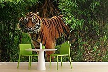 Sproud Wandbild Tiger Tier Wandbild Tapete 3D Wandbild Tapeten Im Wohnzimmer Tv-Kulisse Für Das Schlafzimmer 3D Wallpaper 200 Cmx 140 Cm