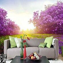Sproud Wandmalereien Aus Dem Wohnzimmer Der Wohnzimmer Tv Hintergrund Wand Schlafzimmer Tapete Schön Purpur Romantische Tapeten 300Cmx210Cm