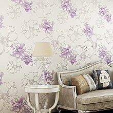 Sproud Warme pastorale Pfingstrose Seidentuch Schlafzimmer Tapeten im Wohnzimmer Tv Hintergrund Tapete 3D 300cmx210cm