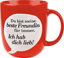 Spruchbl. rot - Beste Freundin