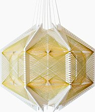 Sputnik Lampenschirm #12 Grün & Gold von Julie