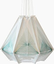 Sputnik Lampenschirm #9 in Blau & Weiß von Julie