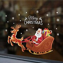 SPZZQVFensterGlasdekorationAufkleber Santa