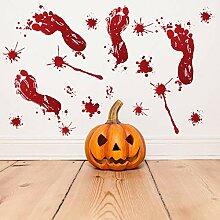 SPZZQVHalloween Blood FootprintWandaufkleber