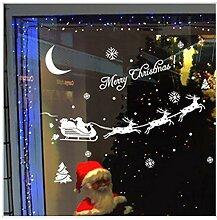 SPZZQVSanta DeerWandaufkleberHome Christmas