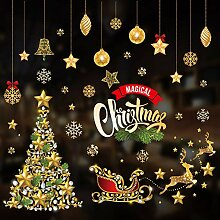 SPZZQVWeihnachtsschmuck Weihnachtsaufkleber