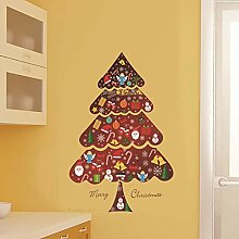 SPZZQVWeihnachtswandaufkleber Wohnzimmer